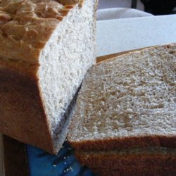 Bread Machine Honey Buttermilk Wheat Bread recipe