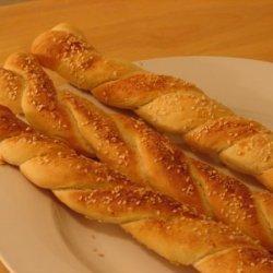 Homemade Pizza Dough Bread Sticks recipe
