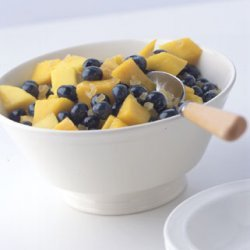 Mango, Blueberry, and Ginger Fruit Salad recipe