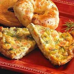 Smoked Salmon, Leek, and Dill Frittata recipe