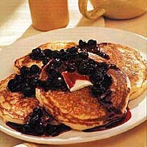 Buttermilk Pancakes with Blueberry Compote recipe