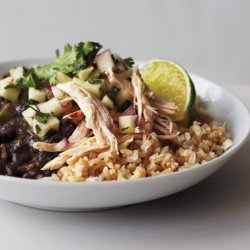 Black Beans and Rice with Chicken and Apple Salsa recipe