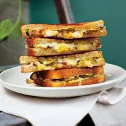 Grilled Ham, Cheese and Pickle Sandwiches recipe