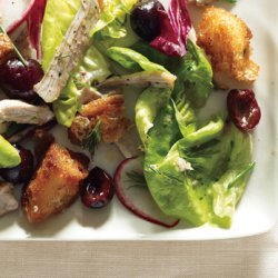 Butter Lettuce, Chicken, and Cherry Salad recipe