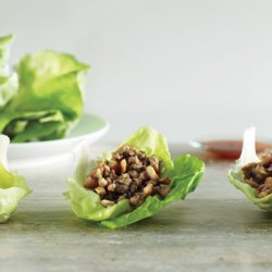 Lettuce Cups with Stir-Fried Chicken recipe