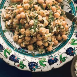 Chickpea Salad with Lemon, Parmesan, and Fresh Herbs recipe