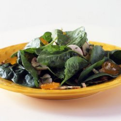 Spinach Salad with Almonds and Kumquats recipe