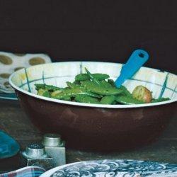 Sugar Snap Peas and Potatoes with Parsley Pesto recipe