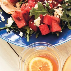 Watermelon, Feta, and Arugula Salad with Balsamic Glaze recipe