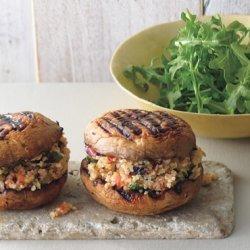 Grilled Portabella and Bulgur Salad  Sandwiches  recipe