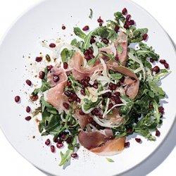 Mediterranean Salad with Prosciutto and Pomegranate recipe
