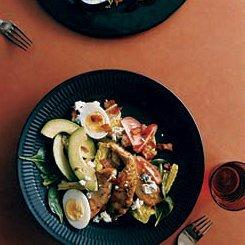 Cobb Salad with Warm Bacon Vinaigrette recipe