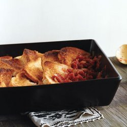 Baked Tomatoes with Crusty Bread recipe