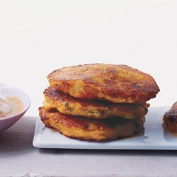 Ecuadoran Potato Cakes with Peanut Sauce recipe