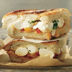Mozzarella and Pepper Cooler-Pressed Sandwiches recipe