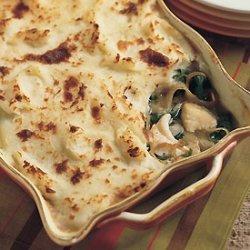 Halibut Pot Pie with Mashed Potato Crust recipe