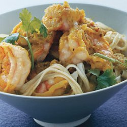 Green Curry Shrimp with Noodles recipe