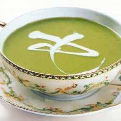 Pea Soup with Crème Fraîche recipe