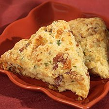 Bacon Cheese And Scallion Scones recipe