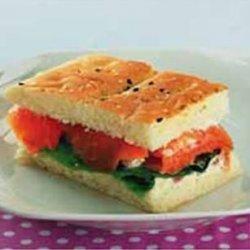 Smoke Salmon Sandwich recipe