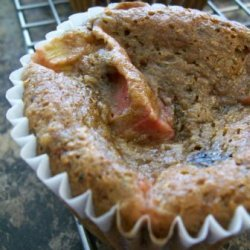 Banana - Berry Rhubarb Muffins recipe