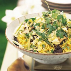 Asian Noodle Mushroom And Cabbage Salad recipe