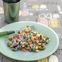 Crunchiest Pea Salad recipe