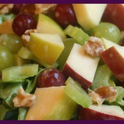 Healthy Apple Cranberry Waldorf Salad recipe