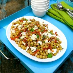Chickpea Salad With Sundried Tomatoes Feta And A F... recipe