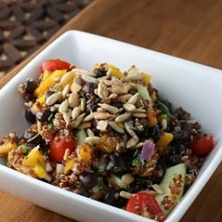 Quinoa And Black Bean Salad With Apricot Lime Vina... recipe