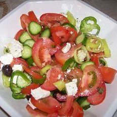 Greek Horiatiki Salata Village Salad recipe