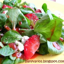 Strawberry And Watercress Salad With Strawberry Vi... recipe