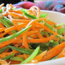 Fresh Snow Peas And Carrots With Lemon Vinaigrette recipe