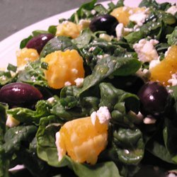 Spinach Salad With Oranges And Feta Cheese recipe