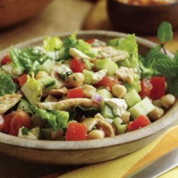 Fattoush Salad With Chick Peas And Feta recipe
