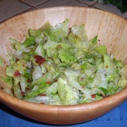 Nanas Wilted Lettuce Salad recipe
