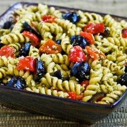 Basil Pesto Pasta Salad recipe