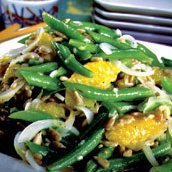 Chinese Long Bean Salad W Tangerines And Sherry-mu... recipe