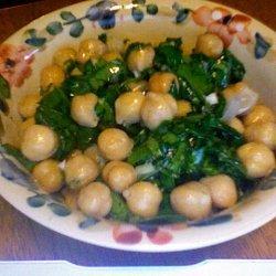 Chick Pea And Spinach Salad recipe