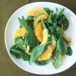 Asian Spinach Salad With Orange And Avocado recipe