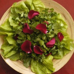 Rose Petal And Watercress Salad Yam Dok Gulab recipe