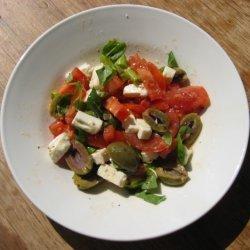 Tomato Feta And Olive Bruschetta recipe
