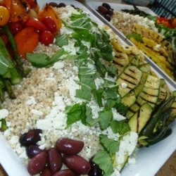 Toasted Israeli Couscous Salad With Grilled Summer... recipe