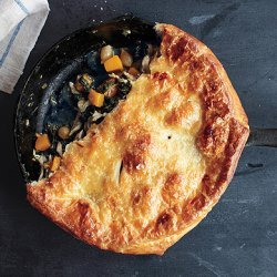 Skillet Chicken Pot Pie with Butternut Squash recipe