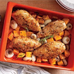 Herbed Chicken and Squash recipe