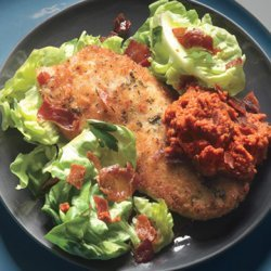 Chicken Cutlets with Romesco and Serrano Cracklin's recipe