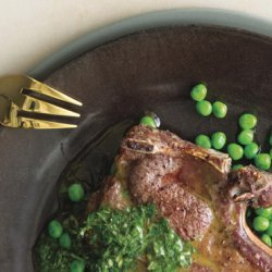 Broiled Lamb Chops with Mint Chimichurri recipe