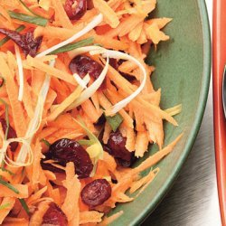 Carrot and Cranberry Salad with Fresh Ginger Dressing recipe