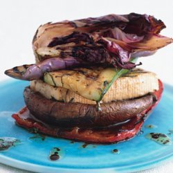 Grilled Veggie and Tofu Stack with Balsamic and Mint recipe