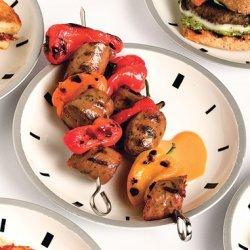 Honey-Mustard Chicken-Sausage Kebabs recipe